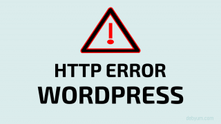 fix Wordpress HTTP error