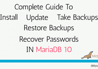 backup and restore mariadb database from command line