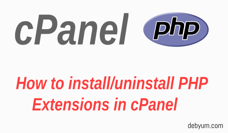 install php extensions in cpanel