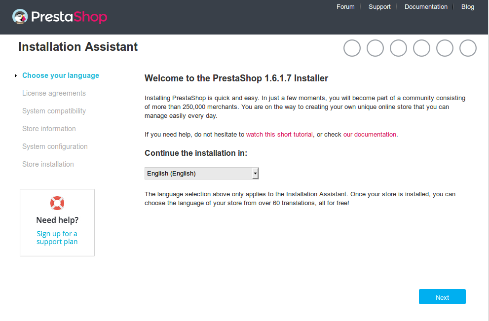 How to install Prestashop CMS on CentOS 7 - DebYum
