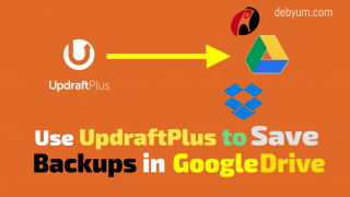 use updraftPlus to save backups in google drive