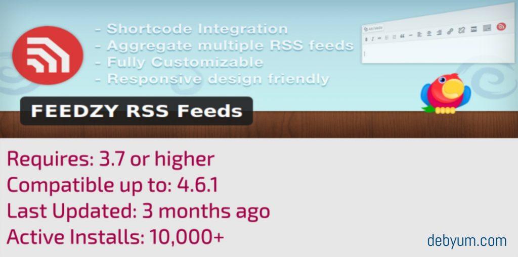 RSS feed wordpress plugin