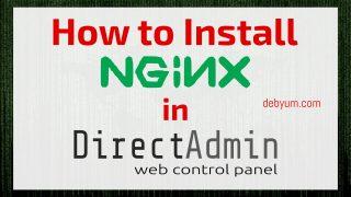 install Nginx as a web server in Directadmin.