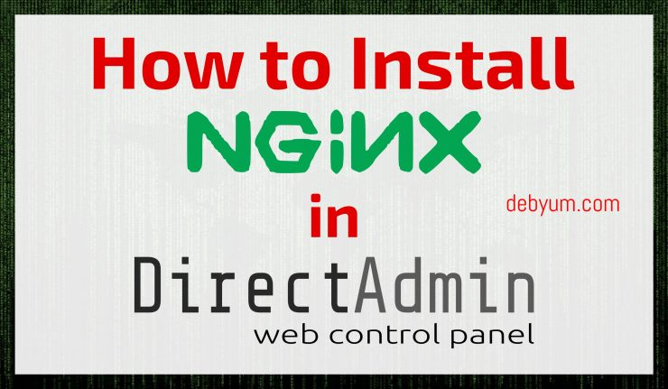 install Nginx as a web server in Directadmin.