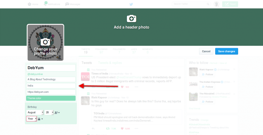 create fan page in google plus and twitter for your blog