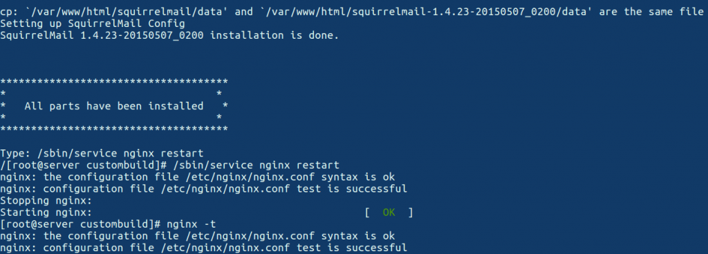 install Nginx as a web server in Directadmin