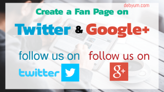 create fan page on google plus and twitter for your blog