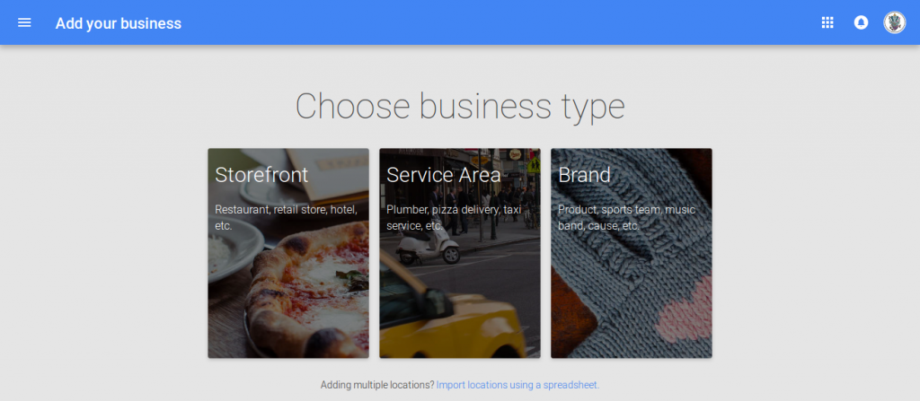 Choose your business type. select Brand for Blogs.