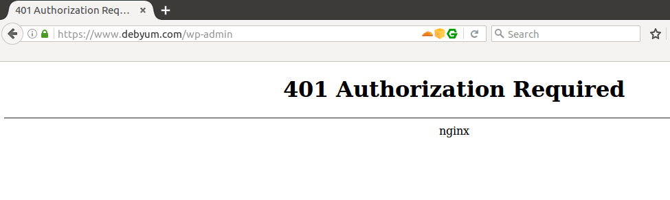 Protect a directory with http authentication.