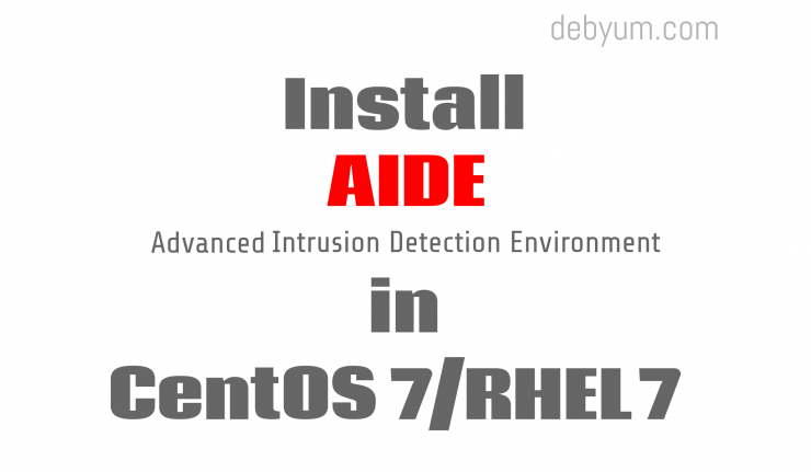 Install aide on CentOS 7