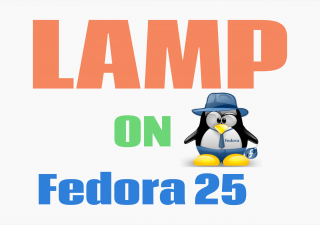 install LAMP on fedora 25