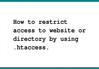 restrict access to website or directory by ip