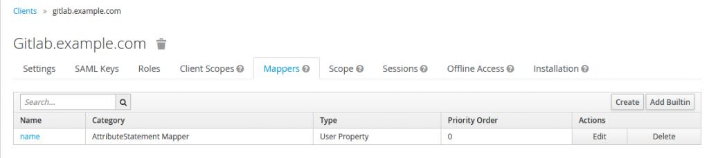 mappers setup keycloak.